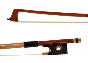 Voirin violin bow, gold, tortoise shell